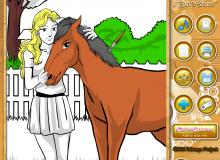 dziewczynka i koń