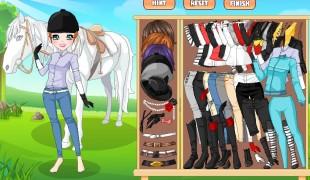 Dziewczyna i koń - ubieranka